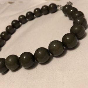 Olive green adjustable pearls